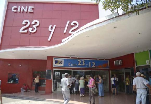foto del Cine 23 y 12 sede de la Cinemateca de Cuba