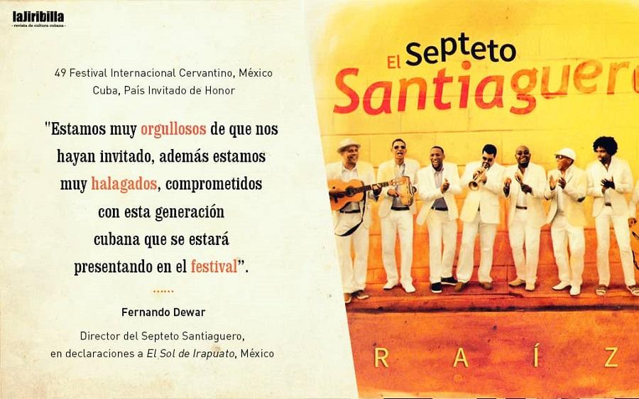 El Septeto Santiaguero trae el baile de Cuba al Cervantino